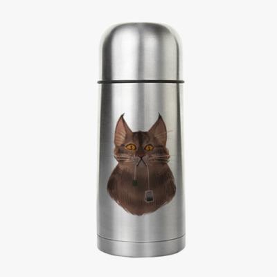 Термос Чайный кот