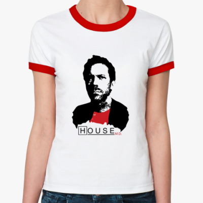 Женская футболка Ringer-T House leader