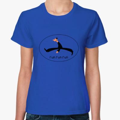 Женская футболка run.run.run