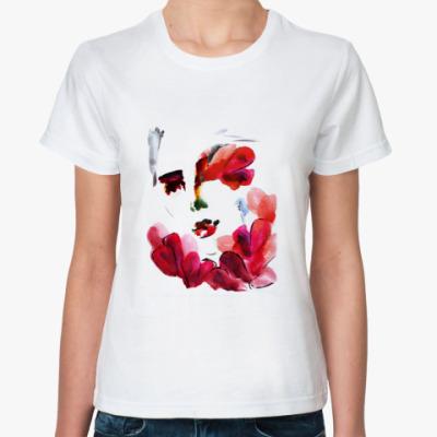 Классическая футболка Girl - flowery