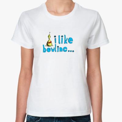 """Классическая футболка  """"i like bowling"""""""