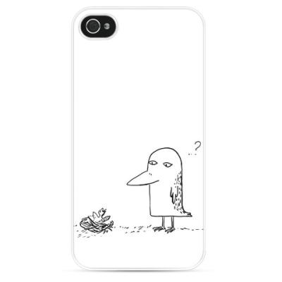 Чехол для iPhone Озадаченный птиц