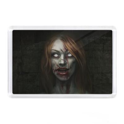 Магнит Зомби-девушка