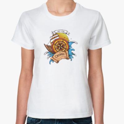Классическая футболка Море. Пират.