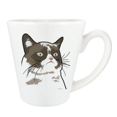 Чашка Латте Grumpy Cat