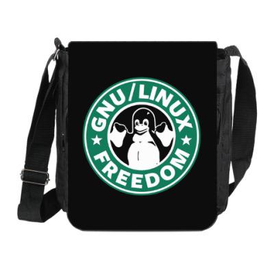 Сумка на плечо (мини-планшет) GNU Linux Freedom