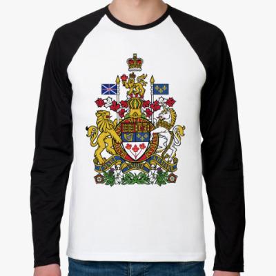 Футболка реглан с длинным рукавом  Канада Герб