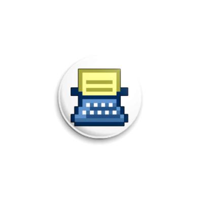 Значок 25мм Печатаю. ICQ-статус.