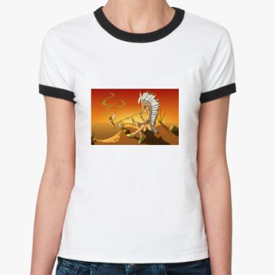 Женская футболка Ringer-T  «Трубка Мира»