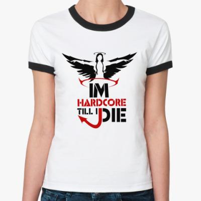 Женская футболка Ringer-T Hardcore