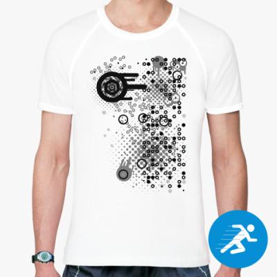 Спортивная футболка Круги и точки