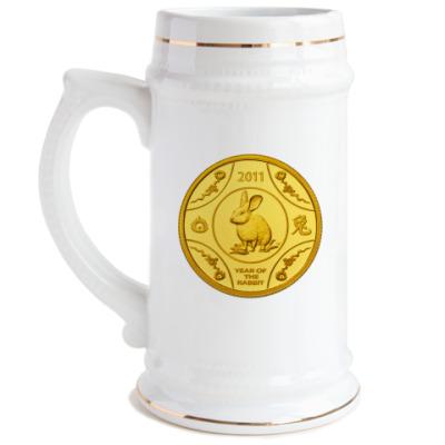 Пивная кружка Год Кролика