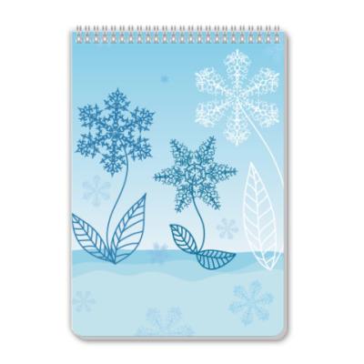 Блокнот Снежные цветы