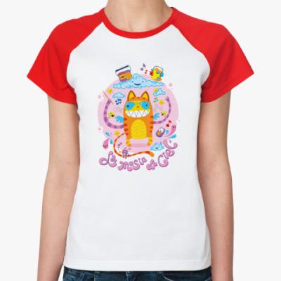 Женская футболка реглан 'Музыка неба'