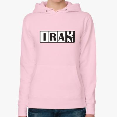 Женская толстовка худи Иран-Ирак