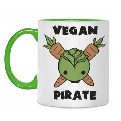 Кружка Веган пират