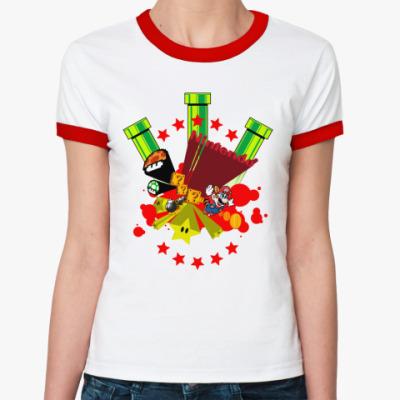 Женская футболка Ringer-T Nintendo  ж(б/к)