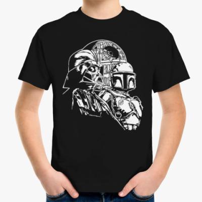 Детская футболка Дарт Вейдер и Боба Фетт