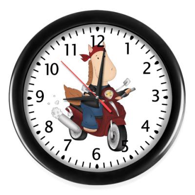 Настенные часы Лошадка Байкер