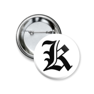Значок 37мм Death Note Тетрадь смерти Kira Кира