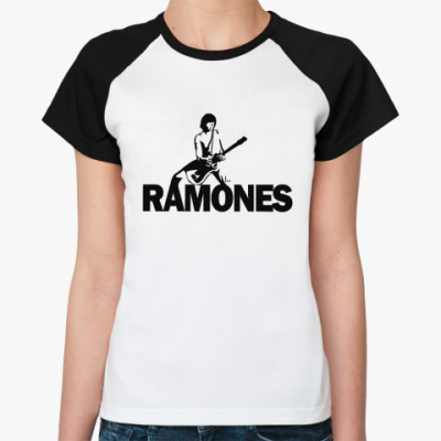 Женская футболка реглан Ramones j  Ж()