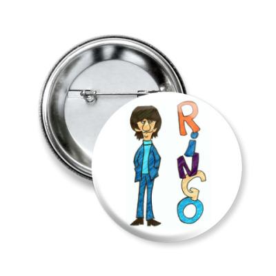 Значок 50мм Ringo Starr