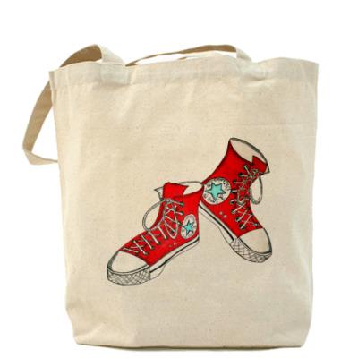 Сумка Холщовая сумка Кеды