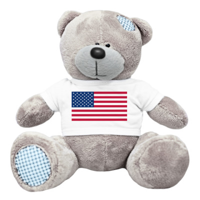 Плюшевый мишка Тедди  Флаг США