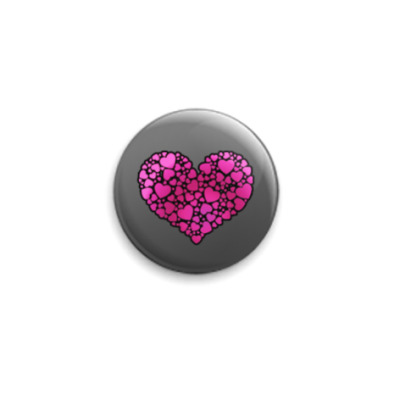 Значок 25мм Hearts