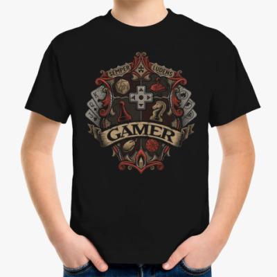 Детская футболка Герб Геймера Gamer