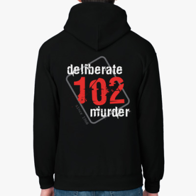 Толстовка худи Толстовка #102DeliberateMurder, черная