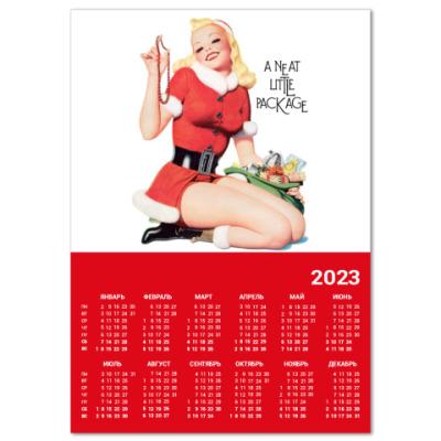 "Календарь  A4 ""Cute Santa"""