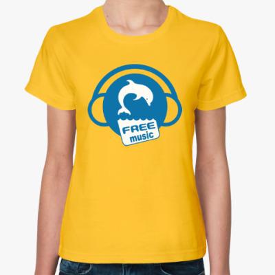 Женская футболка Free Music