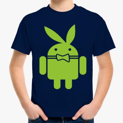 Детская футболка Андроид плейбой