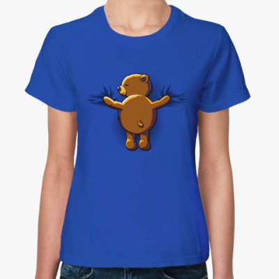 Женская футболка Объятия мишки