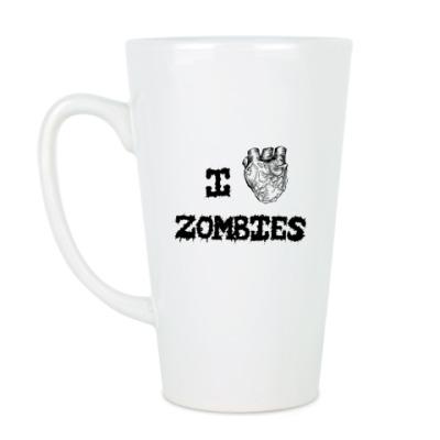Чашка Латте I love zombies