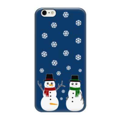 Чехол для iPhone 6/6s Happy Snowman