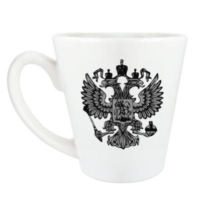 Чашка Латте 'Герб России'