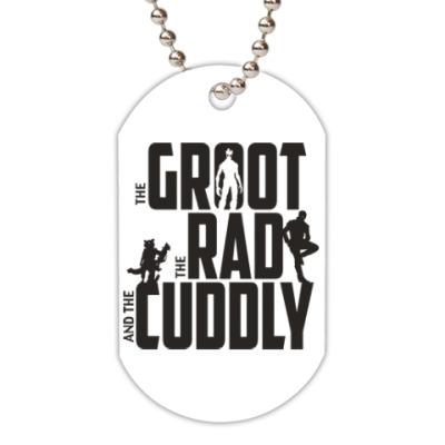 Жетон dog-tag Грут, Рэд и Милый