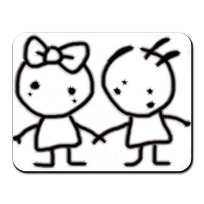 """Коврик для мыши коврик д/мыши """"Kiki & Koko"""""""