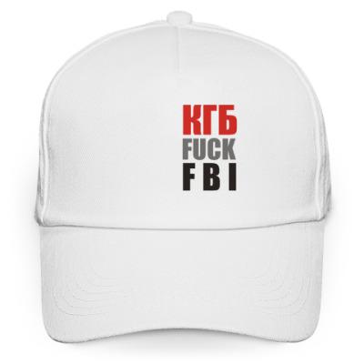 Кепка бейсболка Бейсболка КГБ fuck FBI