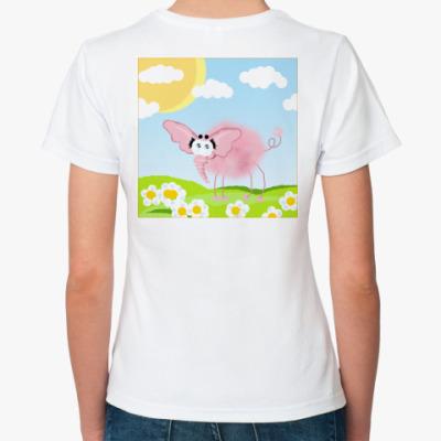Классическая футболка  Слонег жен.2
