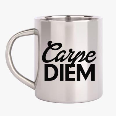 Кружка металлическая Carpe Diem Живи настоящим