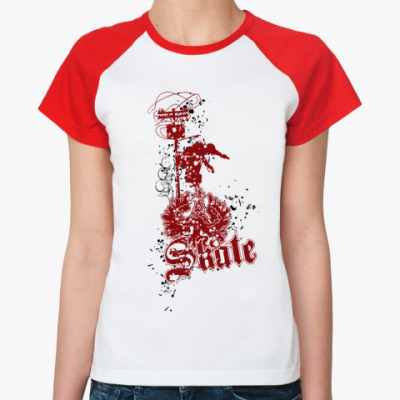 Женская футболка реглан Skate 2