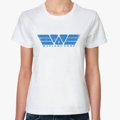 Классическая футболка Чужой. Weyland-Yutani Corp