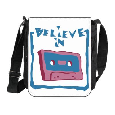 Сумка на плечо (мини-планшет) Верю в кассеты