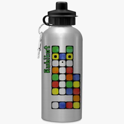 Спортивная бутылка/фляжка Странный кубический кот игра головоломка