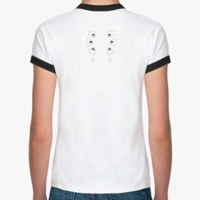 Женская футболка Ringer-T  GITS data ports