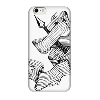 Чехол для iPhone 6/6s Средневековая гравюра с копьем