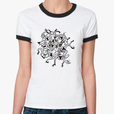 Женская футболка Ringer-T monkey core